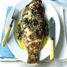 ماهی قزل آلا با سس مرزه: